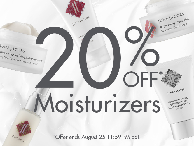 20% off all Moisturizers